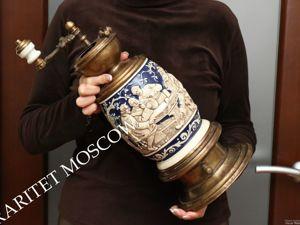 Раритетище Кофемолка Большая бронза латунь фарфор 15. Ярмарка Мастеров - ручная работа, handmade.