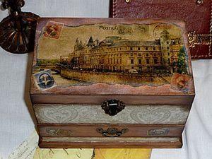 «Почтовая» шкатулка своими руками. Ярмарка Мастеров - ручная работа, handmade.