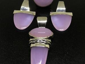 Новогодний аукцион на Серебряный комплект 925 серьги кольцо кулон Розовый кварц. Ярмарка Мастеров - ручная работа, handmade.