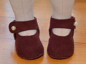 Делаем кожаные туфельки для куклы. Ярмарка Мастеров - ручная работа, handmade.
