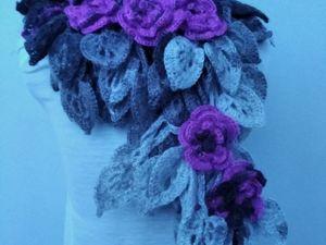 Распродажа авторских оригинальных шарфиков от 1200 руб. Ярмарка Мастеров - ручная работа, handmade.
