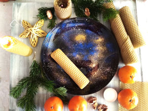 Создаем ароматные свечи на космической подставке своими руками. Декор тарелочки акриловыми красками. Ярмарка Мастеров - ручная работа, handmade.