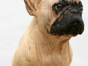 Sculptures about to Wag their Tails: Wooden Work by Gerard Mas. Livemaster - handmade