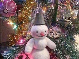 Я его слепила из того, что было, или Делаем снеговика из остатков шерсти. Часть 2. Ярмарка Мастеров - ручная работа, handmade.
