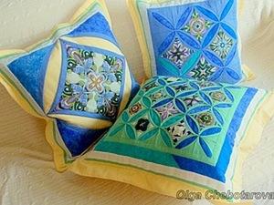 """Одинарное """"кафедральное окно"""" для декоративной подушки. Ярмарка Мастеров - ручная работа, handmade."""