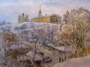 Рисуем акварельную картину «Владимирский вид». Ярмарка Мастеров - ручная работа, handmade.