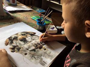 9-летний художник спасает животных из приюта: удивительный проект «Добрая кисть». Ярмарка Мастеров - ручная работа, handmade.