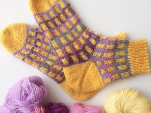 Вяжем носки спицами с пяткой бумеранг. Ярмарка Мастеров - ручная работа, handmade.