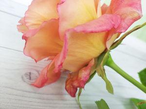Чайная роза из холодного фарфора. Ярмарка Мастеров - ручная работа, handmade.