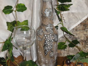 Декорируем стеклянную бутылку. Ярмарка Мастеров - ручная работа, handmade.
