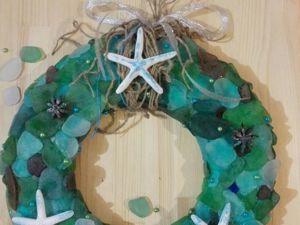 Создаем рождественский венок «Морской бриз». Ярмарка Мастеров - ручная работа, handmade.