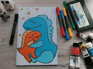 Рисуем картину для мамы. Ярмарка Мастеров - ручная работа, handmade.