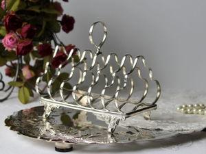Дополнительные фотографии антикварной подставки для тостов. Ярмарка Мастеров - ручная работа, handmade.