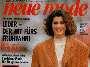 Neue mode 1 1989 (январь). Ярмарка Мастеров - ручная работа, handmade.