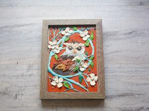 Создаем картину из пластилина Сова. Ярмарка Мастеров - ручная работа, handmade.