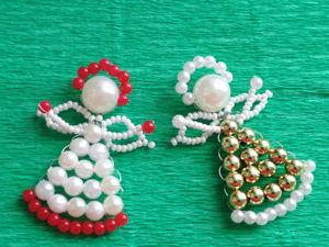 Как сделать ангелочков из бусин. Ярмарка Мастеров - ручная работа, handmade.