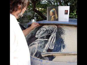 Грязная машина — как вдохновение или пыльные картины Скотта Уэйда. Ярмарка Мастеров - ручная работа, handmade.