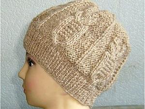 """Вязание шапочки узором """"сова"""" на прямых спицах. Ярмарка Мастеров - ручная работа, handmade."""