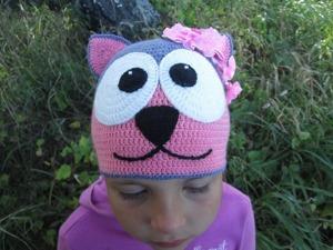 Вяжем крючком шапочку «Кошечка». Ярмарка Мастеров - ручная работа, handmade.