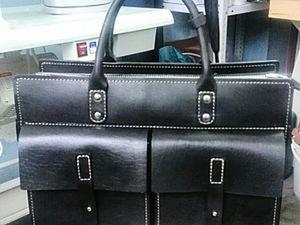 Делаем ручки из кожи для сумки-портфеля. Ярмарка Мастеров - ручная работа, handmade.