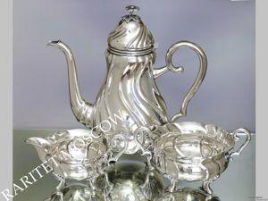 Сервиз чайник сахарница молочник серебрение 10. Ярмарка Мастеров - ручная работа, handmade.