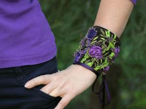 Браслет  «Где-то в цветочной долине»  для Елены. Ярмарка Мастеров - ручная работа, handmade.