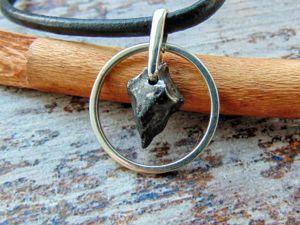 Защитный амулет из железного метеорита Сихотэ Алинь. Ярмарка Мастеров - ручная работа, handmade.
