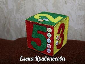 Шьем развивающий кубик для детей: «Счет от 1 до 5». Ярмарка Мастеров - ручная работа, handmade.