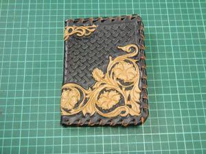 Создаем кожаную обложку на паспорт с тиснением в стиле Шеридан. Ярмарка Мастеров - ручная работа, handmade.