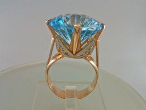 Видео: Кольцо  «Корона» ,золото,топаз,бриллианты. Ярмарка Мастеров - ручная работа, handmade.