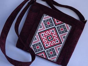 Шьем сумочку с вышивкой в славянском стиле. Ярмарка Мастеров - ручная работа, handmade.