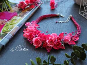 Как слепить колье розами для девочки. Часть 1. Ярмарка Мастеров - ручная работа, handmade.