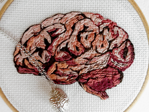 Amusing Anatomy by Julie Campbell: Embroideries That Are Not For Faint-Hearted. Livemaster - handmade