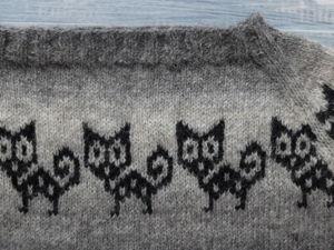 Вяжем жаккардовый свитер по кругу. Третья часть. Ярмарка Мастеров - ручная работа, handmade.