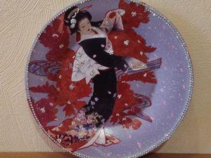 Новинки — Тарелки  «японка». Ярмарка Мастеров - ручная работа, handmade.