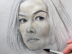 Пишем портрет в технике акварельной живописи. Ярмарка Мастеров - ручная работа, handmade.