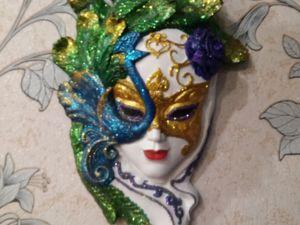 Венецианская маска  «Павлин (цветная)». Ярмарка Мастеров - ручная работа, handmade.