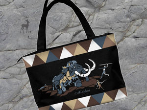 Наскальная живопись на сумке. Ярмарка Мастеров - ручная работа, handmade.