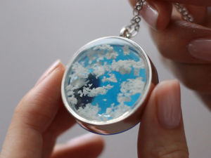 Making a Pendant with Clouds. Livemaster - handmade