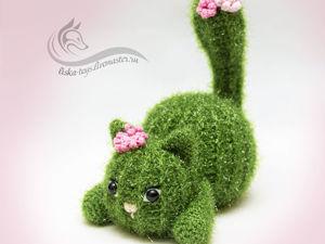 Вяжем крючком игрушку «Кошечка-кактус». Ярмарка Мастеров - ручная работа, handmade.