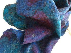 Аукцион — приглашаю! Валяные шарфы и палантин Крейзи-вул!. Ярмарка Мастеров - ручная работа, handmade.