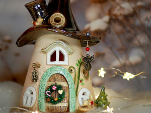 Fairy Houses: Magical Ceramic Candle Holders by Antje Rosemann. Livemaster - handmade