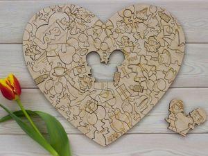 Пазл-сердце. Ярмарка Мастеров - ручная работа, handmade.