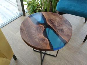 Мастерим журнальный стол в эпоксидной смоле. Ярмарка Мастеров - ручная работа, handmade.