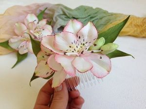 How to Make a Gentle Alstroemeria from Foamiran. Livemaster - handmade