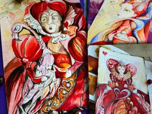Алискины акварельки. Червонные Королевы. Ярмарка Мастеров - ручная работа, handmade.