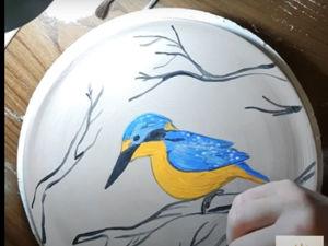 Роспись тарелки/ Видео мастер-класс. Ярмарка Мастеров - ручная работа, handmade.