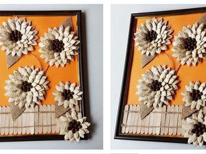 Делаем панно из тыквенных семечек и кофейных зерен: видео мастер-класс. Ярмарка Мастеров - ручная работа, handmade.