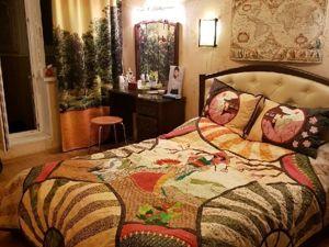 Лоскутное покрывало  «Чио-Чио-Сан» . Ярмарка Мастеров - ручная работа, handmade.