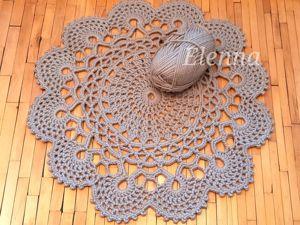 Вяжем уютный коврик по схеме салфетки. Ярмарка Мастеров - ручная работа, handmade.